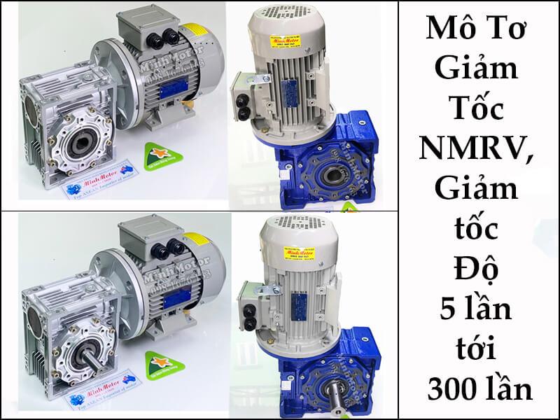 motor hộp số NMRV cốt trục âm hoặc dương quay 360 độ 5HP 3.7kw 380v 1/80