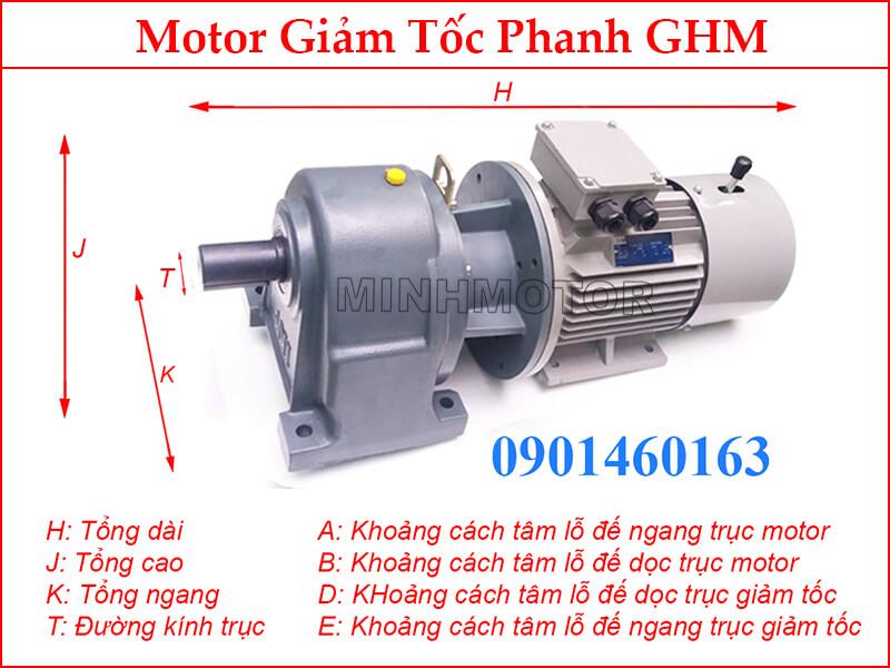 Bản vẽ motor giảm tốc có phanh 7.5kw 10HP 10 Ngựa