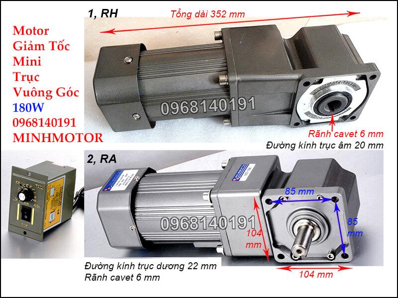 Motor Giảm Tốc mini RH RA180w 220v