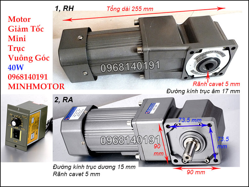 Motor Giảm Tốc mini RH RA 40w220v