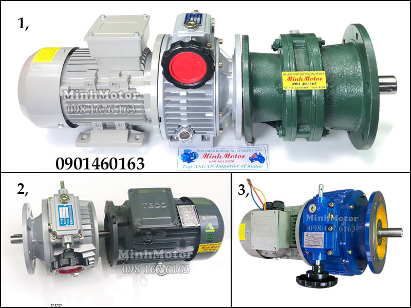 Các loại motor giảm tốc mặt bích cycloid điều chỉnh tốc độ 370W 0.37kW 0.5HP