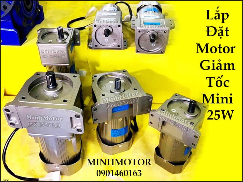 Lắp đặt motor hộp số giảm tốc mini 25w