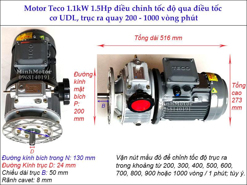 Bộ điều tốc motor Teco 1.1kw 1.5hp MB15