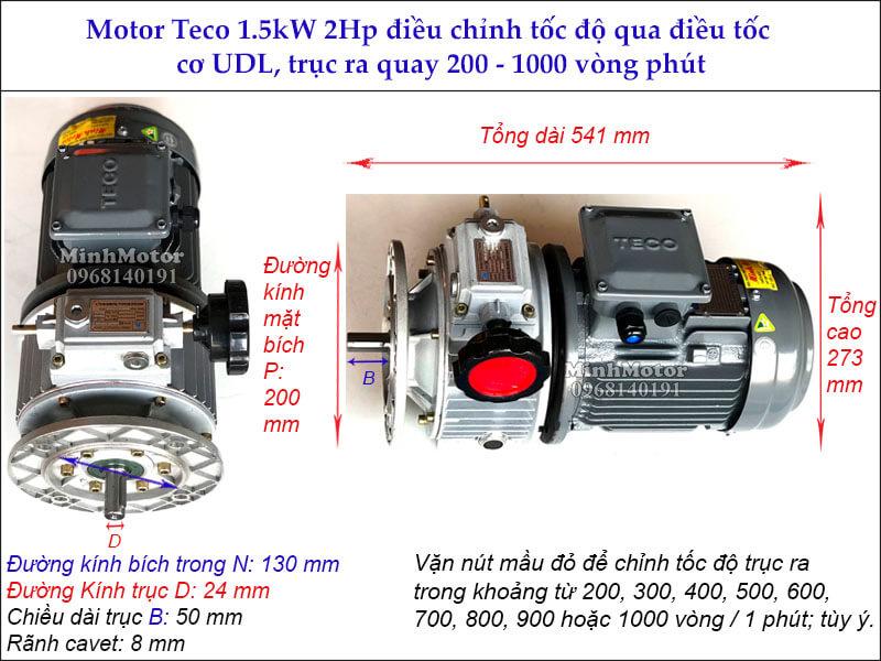 Bộ điều tốc motor Teco 1.5kw 2hp MB15