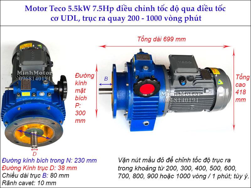 Bộ điều tốc motor Teco 5.5kw 7.5hp MB55
