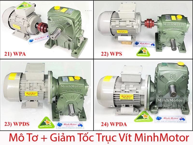 Motor + Giảm tốc trục vít WPS, WPA, WPDS, WPDA
