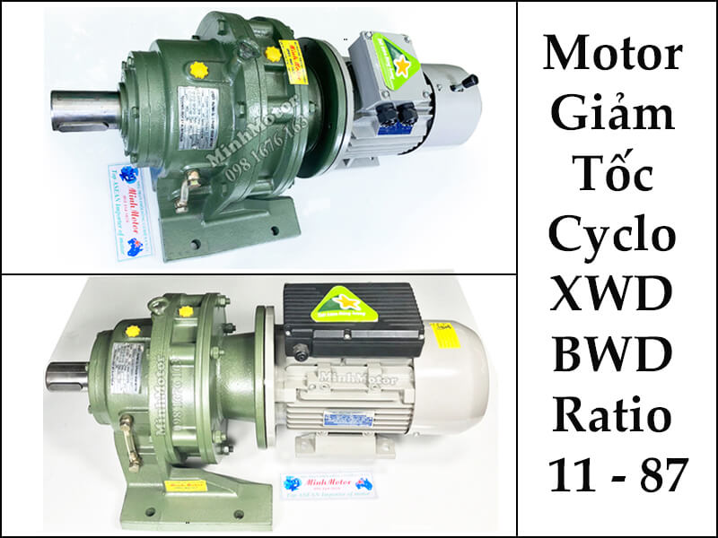 Mô Tơ Giảm Tốc Hộp Số Cyclo Cycloid XWD, BWY, XWY, BWE, XWE, BLD, XLD, XLE, 1.5kw 2HP Ratio 10