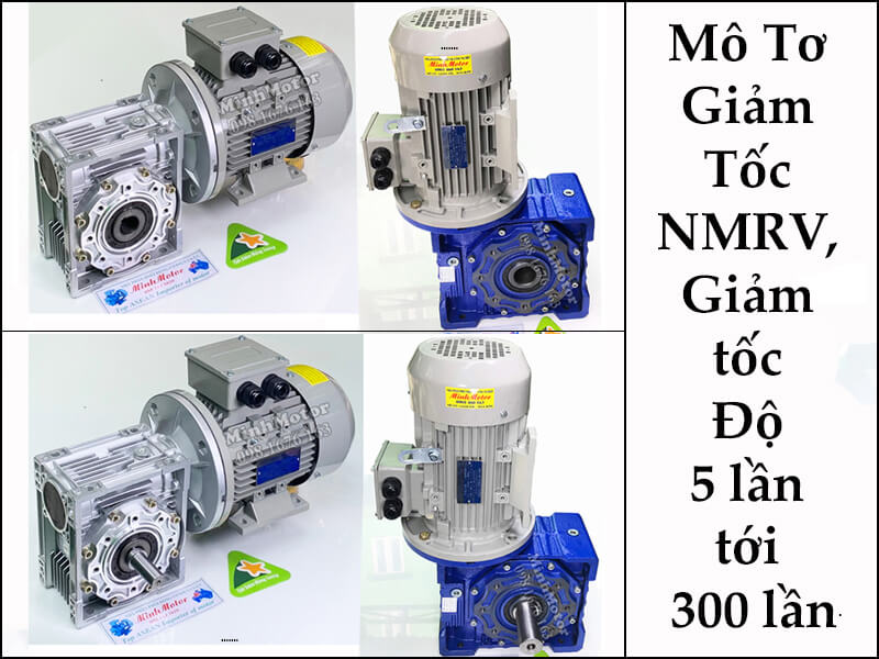 Động Cơ Giảm Tốc Cốt Âm Trục Âm RV, SW, MS Flange Gearbox 1.5kw 2HP Ratio 40