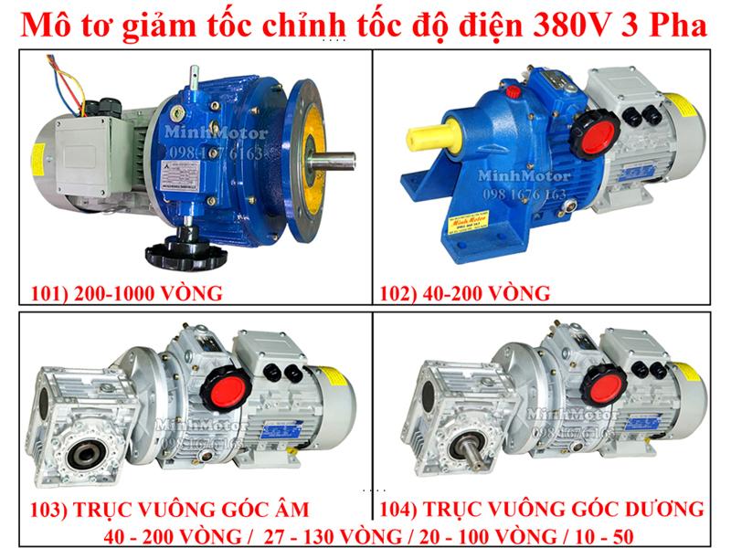 Motor giảm tốc chỉnh tốc độ điện 380V 3 pha