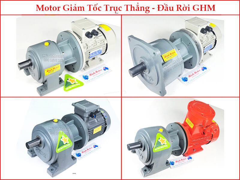 Động Cơ Điện Hộp Số Giảm Tốc HP VB SHB SVB SHM SVM 2.2kw 3HP Ratio 20