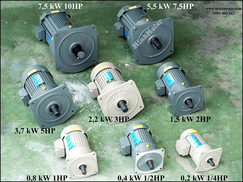 Motor Giảm Tốc Mặt Bích PF SV VB 2.2kw 3HP Ratio 5