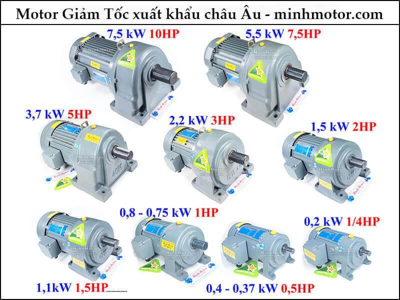 motor giảm tốc Taili chân đế, mặt bích 0.4kw 0.5hp