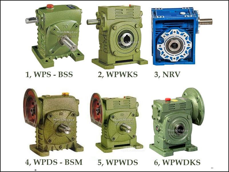 Hộp Giảm Tốc Mặt Bích Size 120 Cốt Âm WPS-BSS, WPWKS, NRV, WPDS-BSM, WPWDS, WPWDKS