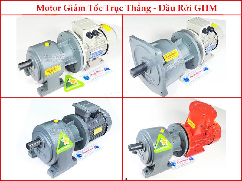 Motor Giảm tốc trục thẳng - Đầu rời GHM 1.5Kw 2Hp 2 ngựa