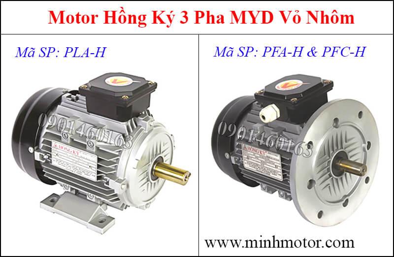 Thông số kỹ thuật Motor Hồng Ký 1HP 0.75kw 3 pha MYD