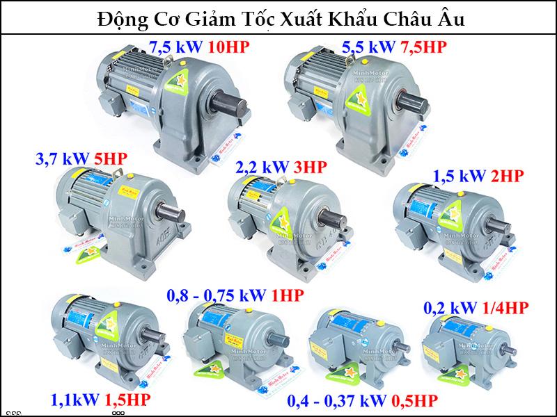 Motor giảm tốc trục thẳng, trục vuông góc 0.25Kw 0.34Hp 0.34 Ngựa xuất khẩu châu âu