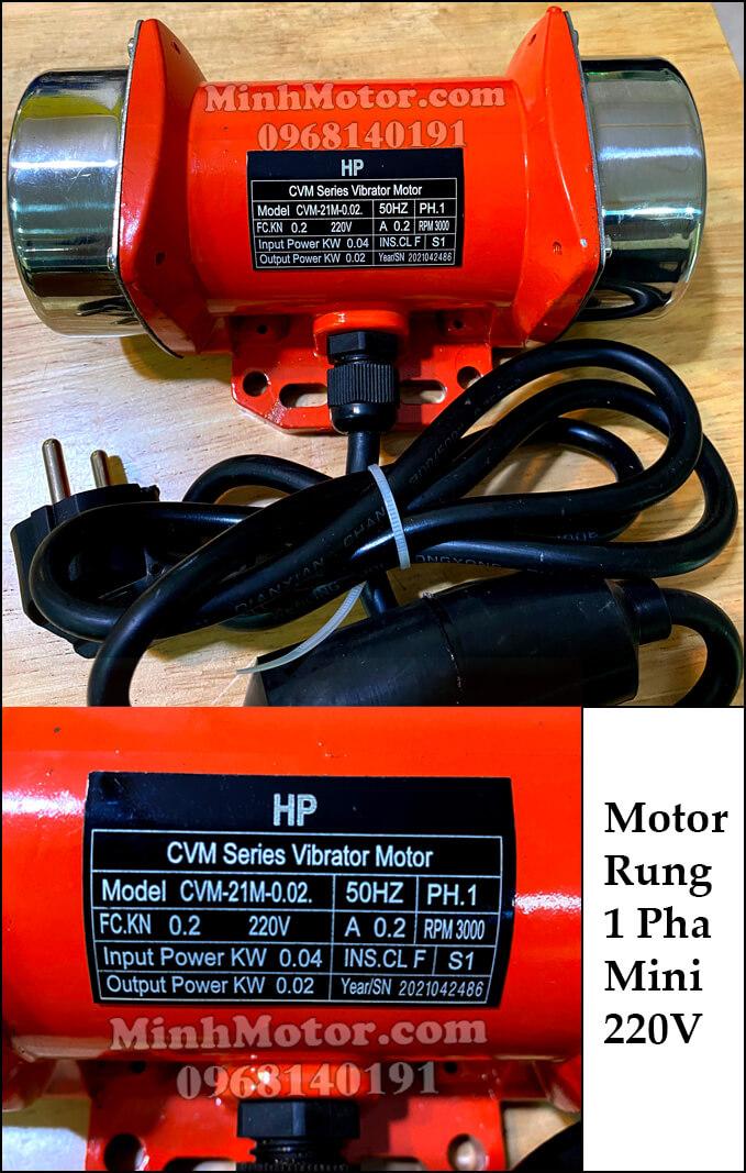 Motor rung 1 pha mini 220V
