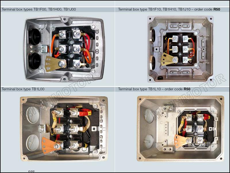 Cấu tạo hộp cực đấu điện motor Siemens 0.75Kw 1Hp 1 ngựa